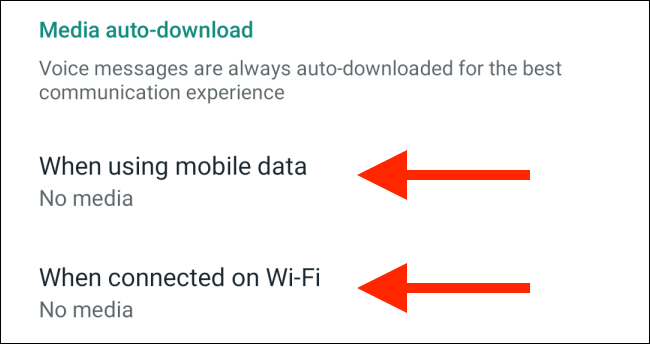 WhatsApp media download off