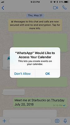 WhatsApp Trick Create Events